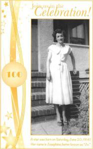 Jos 100th birthday
